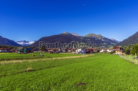 austria tyrol ehrwald mountain village in