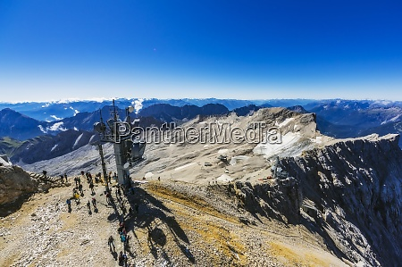 austria tyrol people waiting around ski