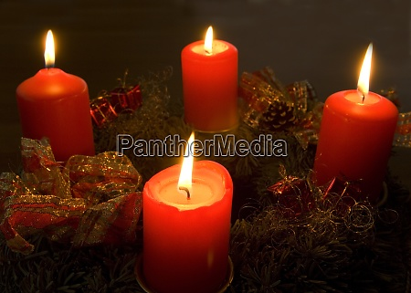 adventskranz vierter advent