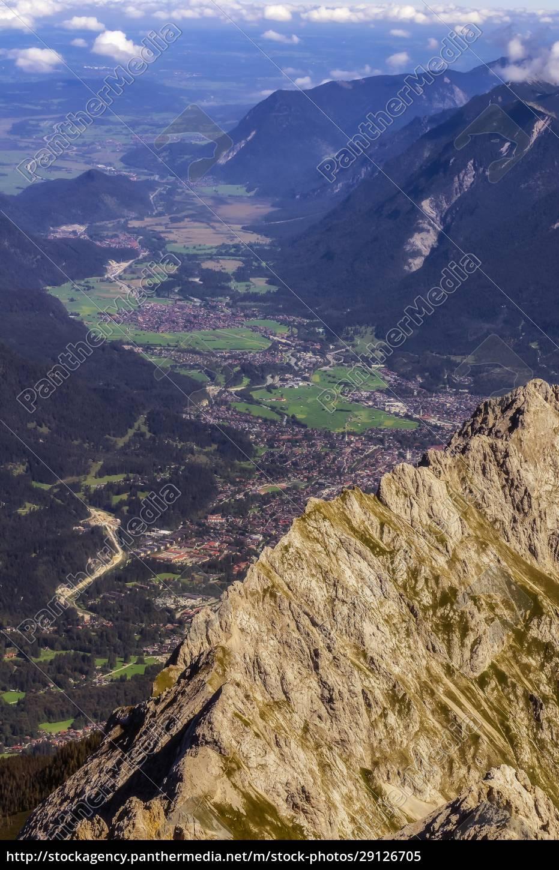 austria, , tyrol, , ehrwald, , alpine, town, in - 29126705