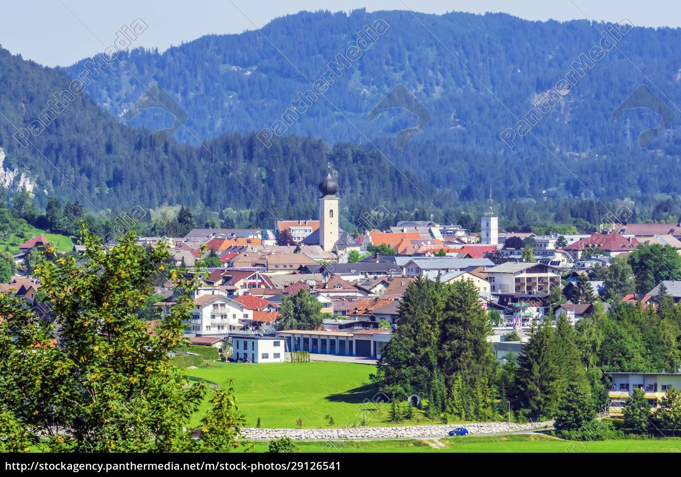 austria, , tyrol, , reutte, , alpine, town, in - 29126541
