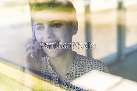 close up of female entrepreneur talking
