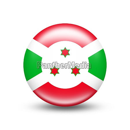 burundi country flag in sphere with
