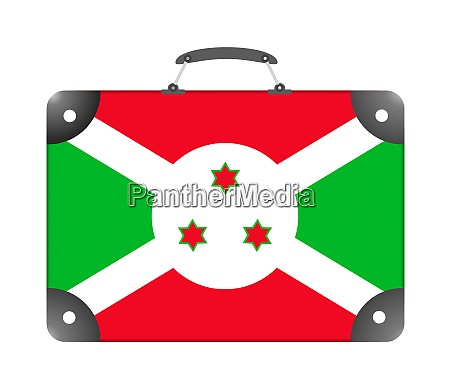 burundi country flag in the form