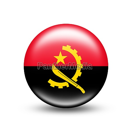 angola country flag in sphere with