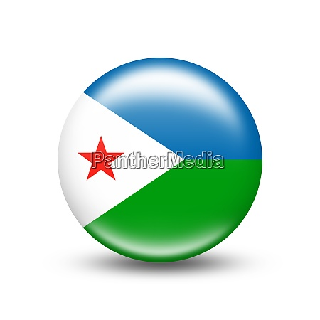 djibouti country flag in sphere with