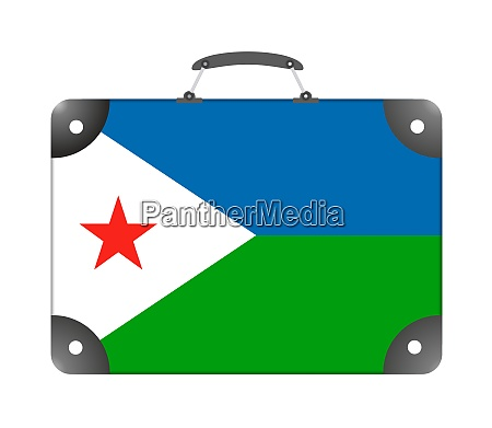 djibouti country flag in the form
