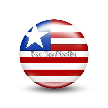 liberia country flag in sphere with