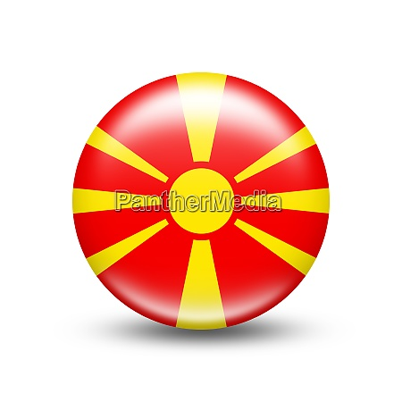 macedonia country flag in sphere with
