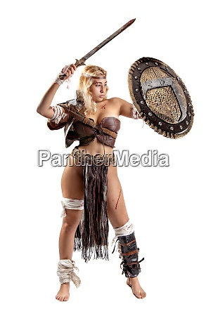 woman gladiator or ancient warrior