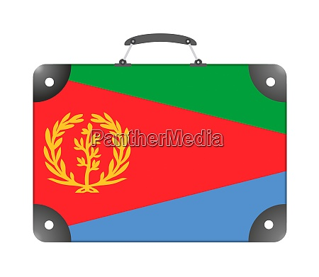 eritrea country flag in the form