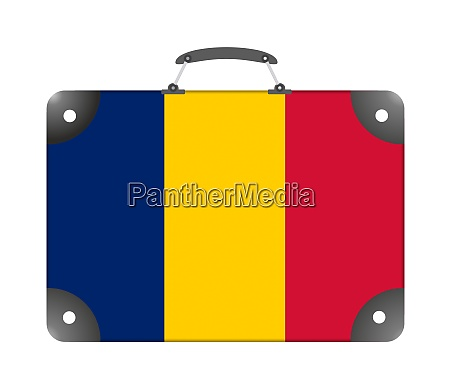 chad country flag in the form
