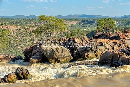 ruacana falls in northern namibia africa