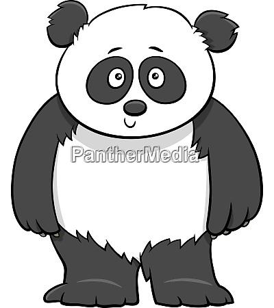 cute baby panda cartoon illustration