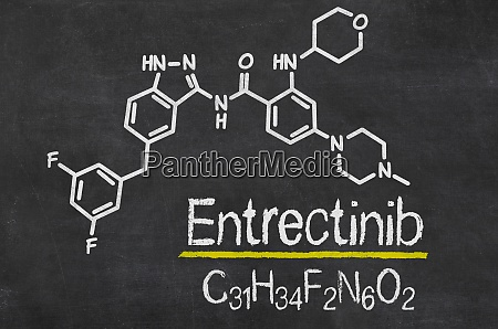 blackboard with the chemical formula of