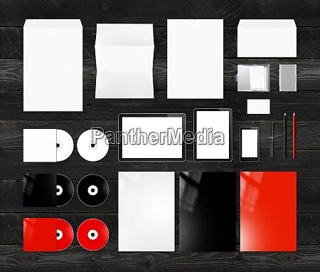 branding identity design mockup template white