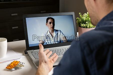 online doctor consultation man talking
