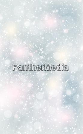 christmas blue bokeh with white glare