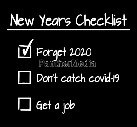 funny new years checklist