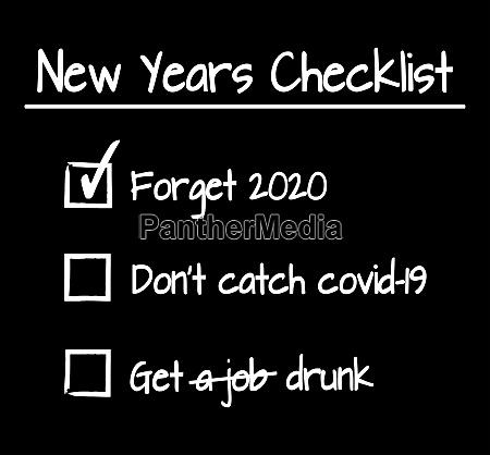 new years checklist
