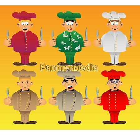 chef in uniform holding up a