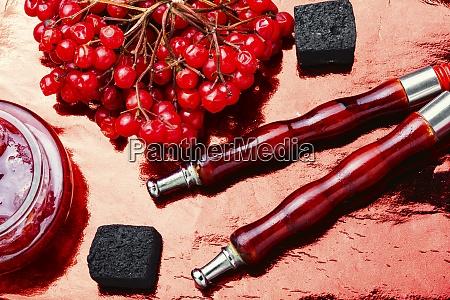 hookah shisha with berries