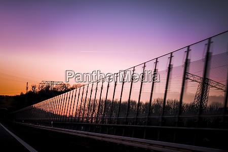 purple sunset on a reflective surface