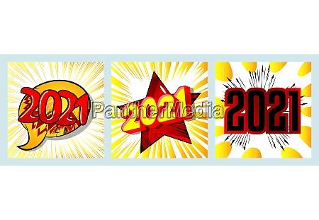 creative happy new year 2021 greeting