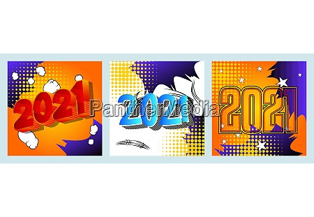 creative happy new year 2021 greeting