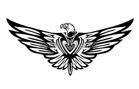 eagle graphic bird icon isolated