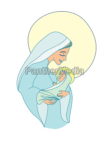 madonna and child jesus isolated