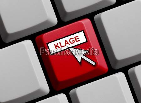 lawsuit in german language red