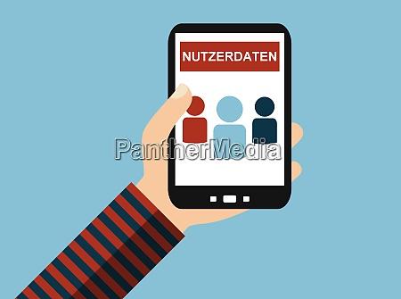 user data in german language on