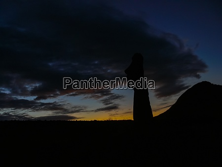 statues of easter island in the