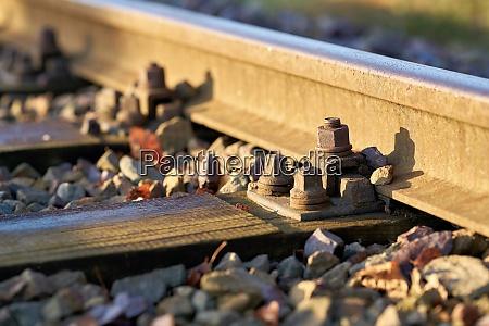railway tracks in the industrial harbour