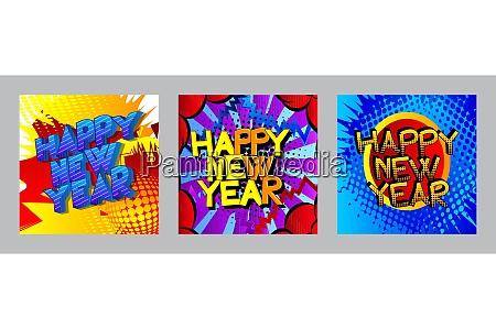 creative happy new year holiday design