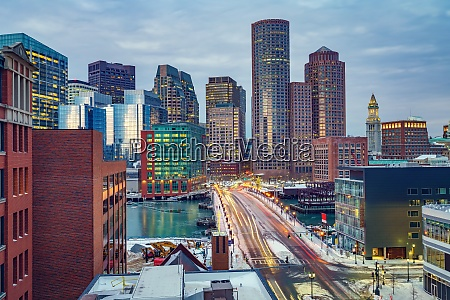 boston downtown at morning