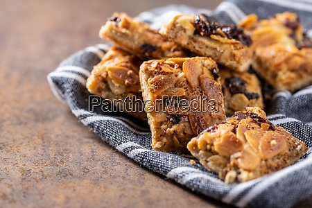 crunchy cereal cookies with nuts and