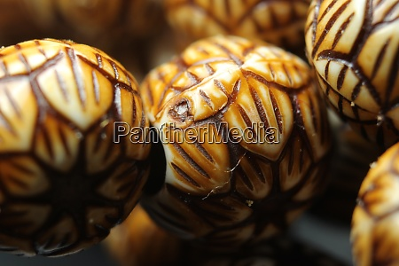 beautiful wooden prayer beads or rosary