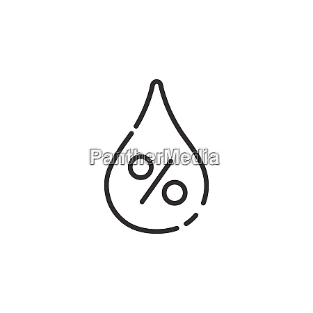 humidity thin line icon isolated weather
