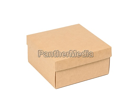 square brown cardboard box isolated on
