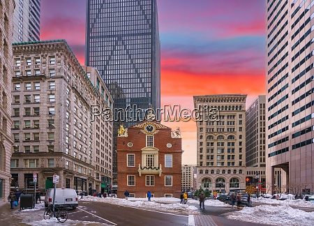 boston old state house at winter