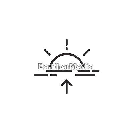 sunrise thin line icon isolated weather