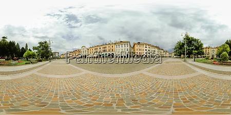 360 degree panorama of historic center