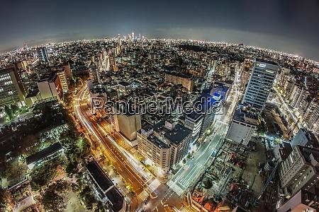 tokyo night view from bunkyo civic
