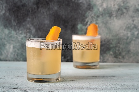 glasses of whiskey sour