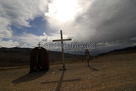 cemetery in the andes of argentina