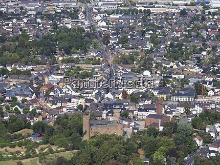 aerial view of zuelpich in