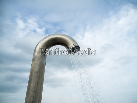 outdoor shower in front of a