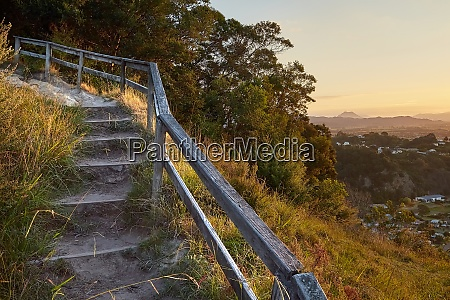 path with stair in new zealand